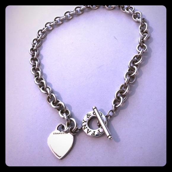 1d1669550 Tiffany & Co. Jewelry | Tiffany Co Heart Toggle Necklace | Poshmark